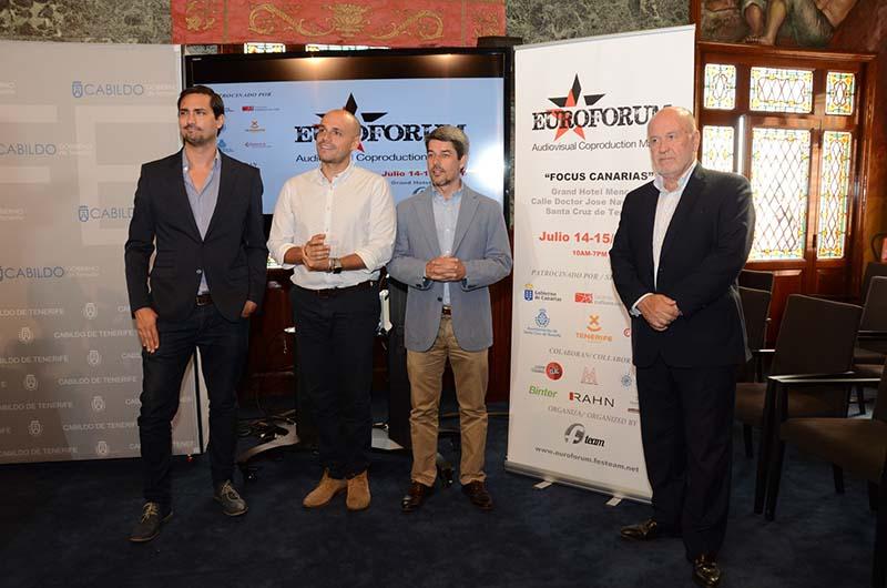 Empresas del sector audiovisual internacional participan en Euroforum para financiar producciones canarias