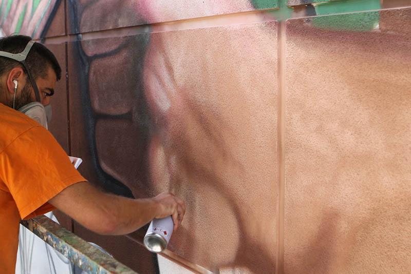 Arranca el II Festival dePASO con la inauguración del mural Tanausú. Tierra y Nobleza