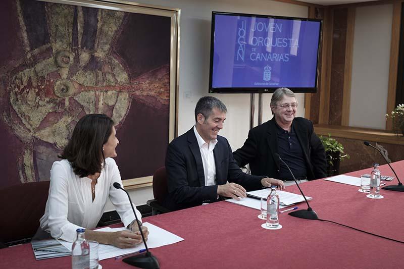 El Gobierno presenta la Joven Orquesta de Canarias, con 94 integrantes de las islas