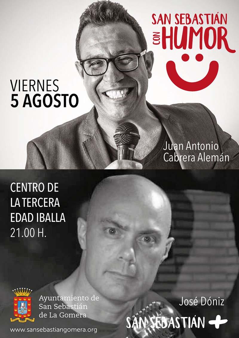 Monólogos y humor para la noche del viernes en San Sebastián de La Gomera
