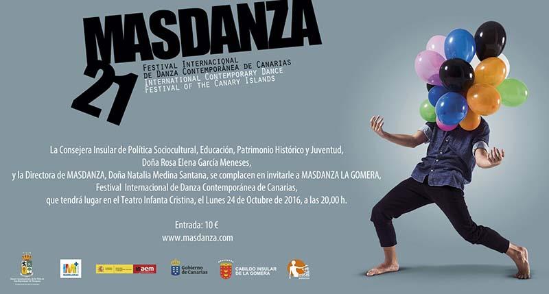 El Auditorio Insular de La Gomera acoge este lunes el espectáculo del festival MASDANZA