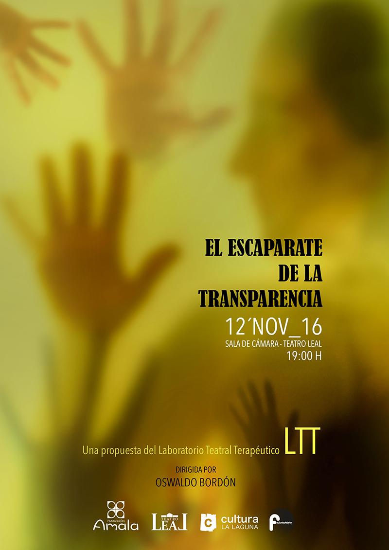 El Teatro Leal presenta 'El escaparate de la transparencia', una obra del Laboratorio Teatral Terapéutico