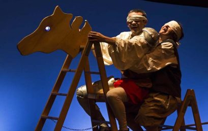 Delirium Teatro representa este viernes en Tegueste su personal visión de las aventuras de Don Quijote