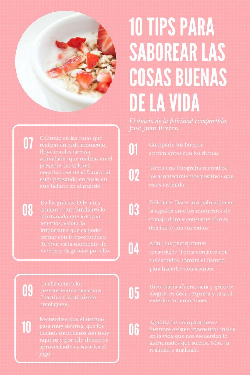 10 tips para saborear las cosas buenas de la vida