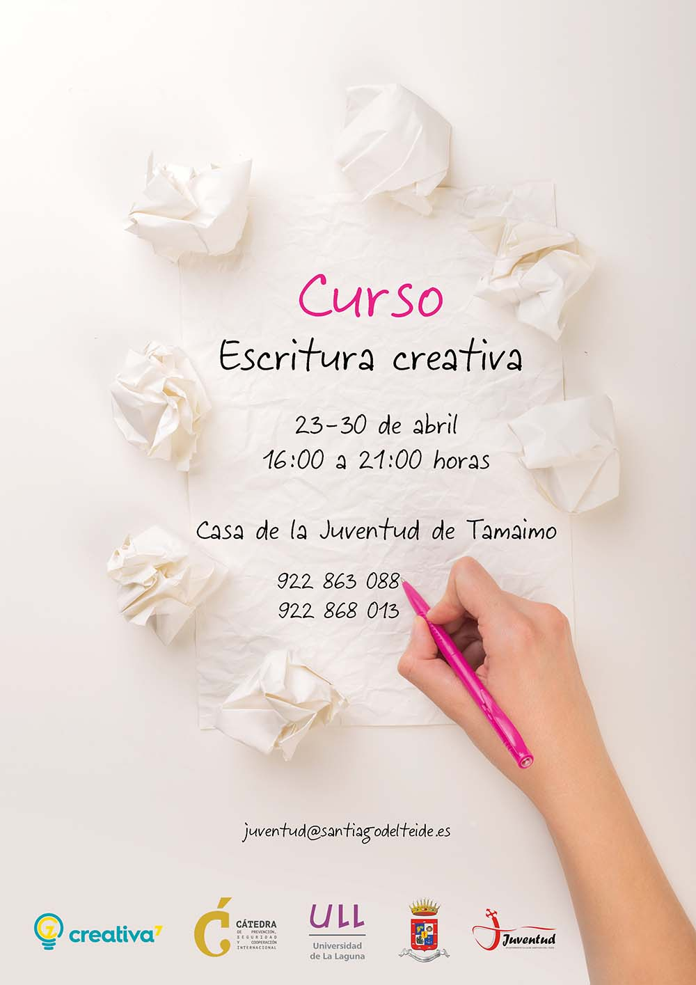 Cartel Escritura Creativa