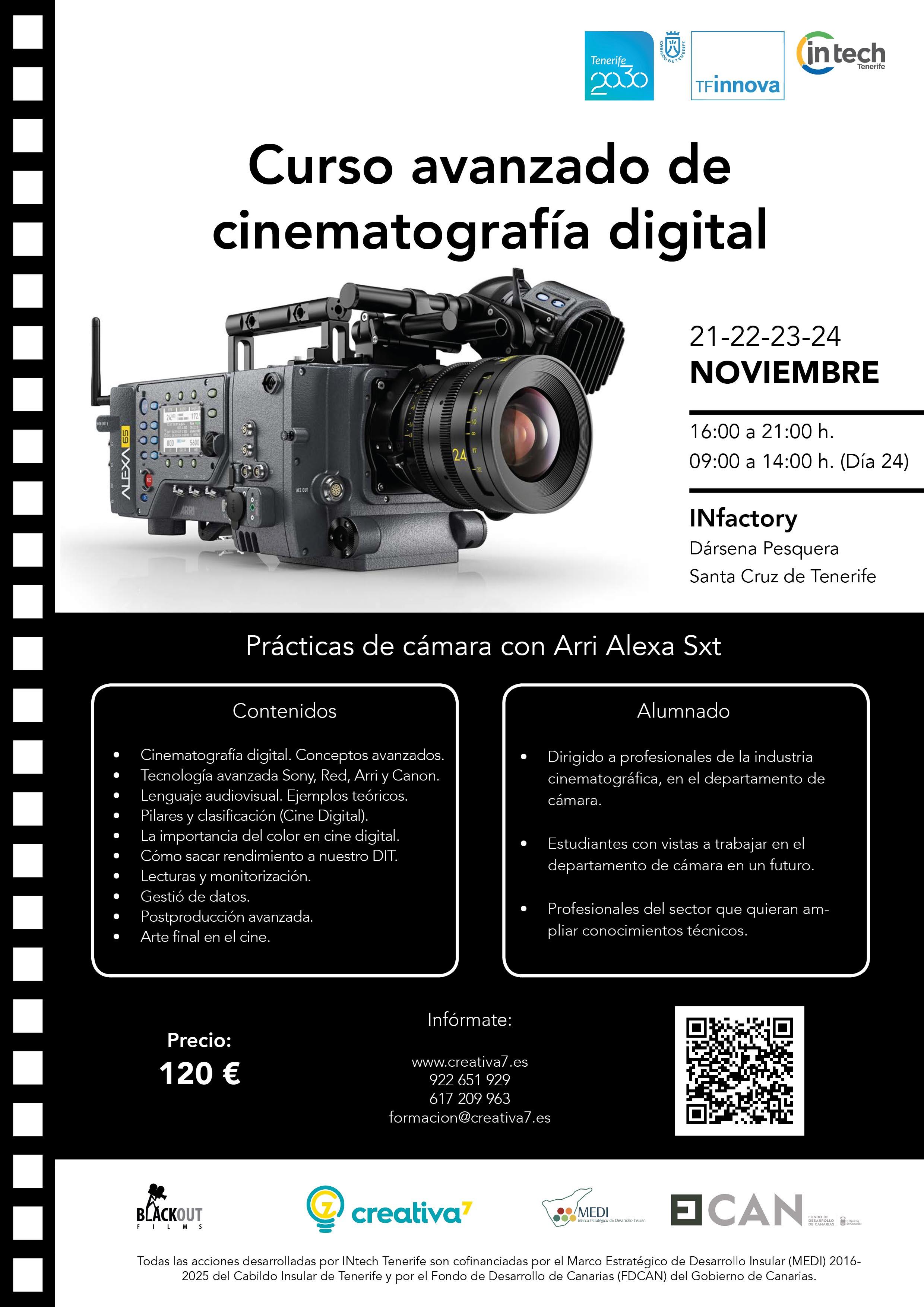 Curso avanzado de cinematografía digital